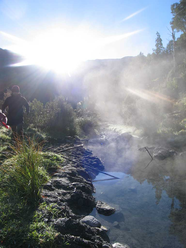 Free Wild Hot Springs when you Self Drive New Zealand