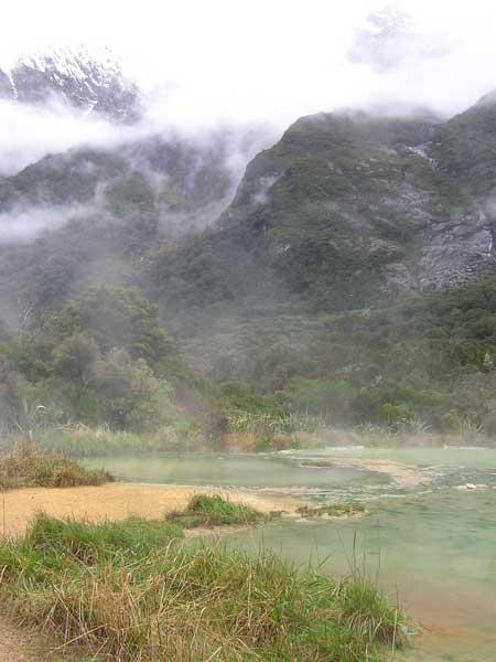 Welcome Flat hot pools -, Copland Track, South Island, NZ